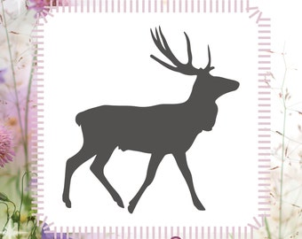 Elk Animal Stencil Reusable Craft Stencil