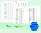 Personal Check Register Financial DIY Planner Organizer Instant Download