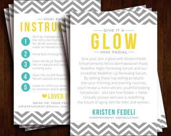 Rodan + Fields Business, Mini Facial Instruction Cards