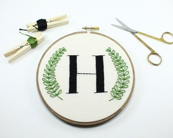 Personalized Couple, Cotton Anniversary Gift, Initial Embroidery Hoop, Gift for Bride, Custom Hoop Art, Monogrammed Gift, Wedding Gift