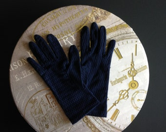 Navy Blue Vintage Gloves.