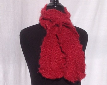 Romantic Ruffles Scarf in Red