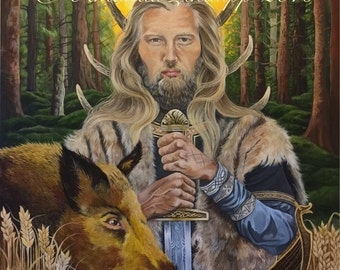 "NEW A4 ""Norse God Freyr AND Freya"" Prints."
