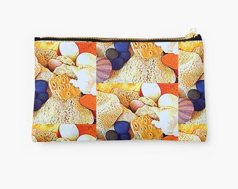 Sea shells and rocks pouch