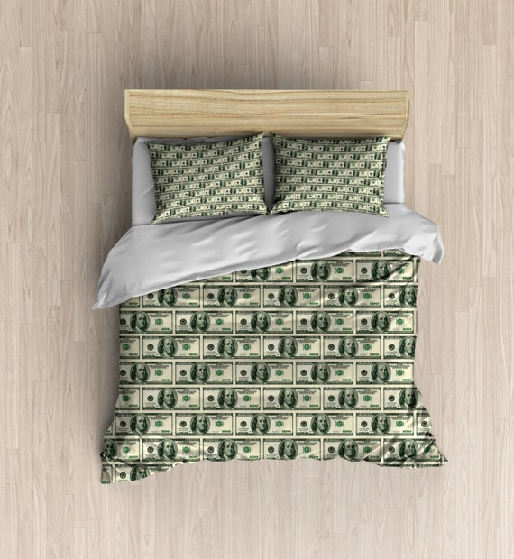 Money Bedding 100 Dollar Bill Duvet Cover Money Bedding