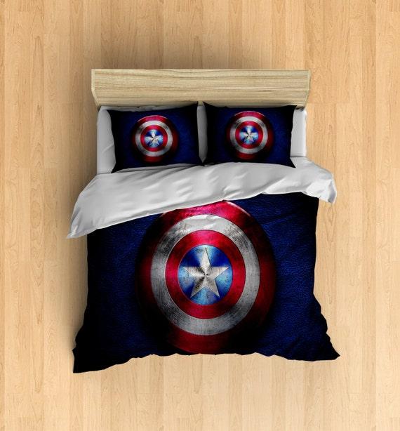 Captain America Bedding - Super Hero Duvet Cover, Super Hero Bedding ...