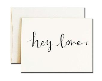 Valentines Day Card for Boyfriend / Calligraphy Font Card / Calligraphy Love Card / BestFriend Card / Boyfriend Card / Card for Him / Love
