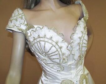 Precious White Wedding Dress 80s - Vintage Bridal Gown