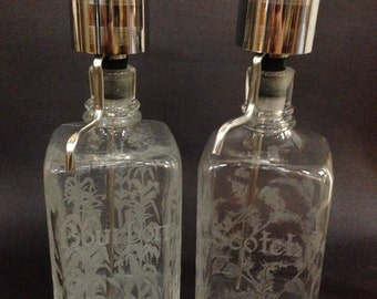 1950's - Set of 2 Mid-Century Modern Decanters (Continental Say-When)