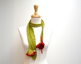 Leaf Lariat / Leaf Necklace / Felt Leaf Necklace / Felt Leaf Scarf