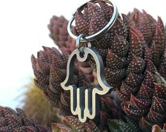 Stainless Steel Hamsa Hand Keychain, Hamsa Keychain, Hamsa Hand Keychain, Gift Idea, Hamsa Hand, Hamsa