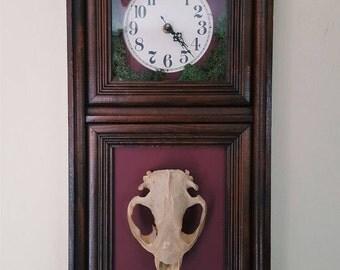 Beaver skull Woodland Wall Clock