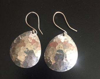 Gorgeous hand stamped silver earrings!