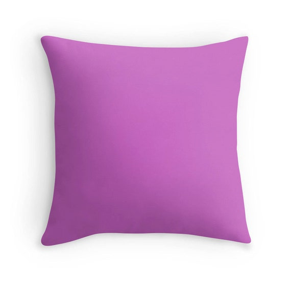 Purple Rose Pillow Purple Pink Throw Pillow Pink Decorative