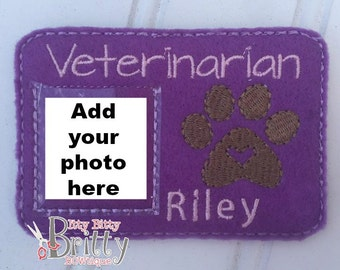 Personalized Veterinarian ID Card
