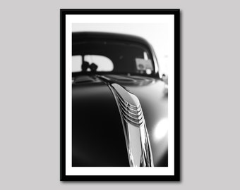 1939 Ford, Classic Car Photography, Black and White Photo, Automobile Photo, 39 Ford