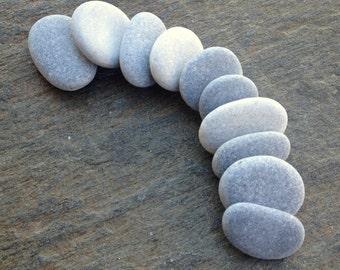 10 Craft Pebbles, Craft Stones, Beach Pebbles, Grey Stones, Flat Stones, Grey Pebbles,  Small Stones, Smooth Pebbles, Sea Stones