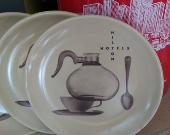 Hilton Hotel Coffee Shop plates