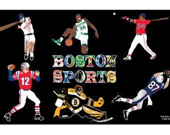 Boston Sports Montage Print