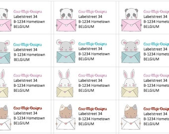 Return Address labels (stickers)
