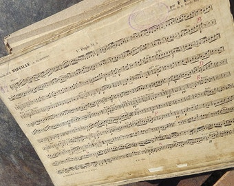 """PROMOTION: 52 Vintage music sheets  """"Fantaisie sur Mireille"""" by Charles Gounod"""