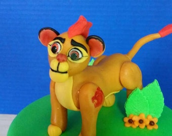 Fondant Lion Guard Cake Topper
