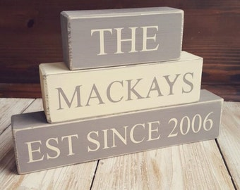 Personalised Stacking Blocks