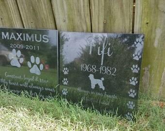 Pet Memorial Tile Pet Memory Stone Pet Memorial