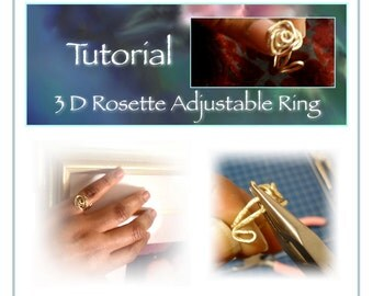 Rose Ring Tutorial, Rosette Ring, Wire Craft, 3D Rosette Ring, Adjustible Ring,