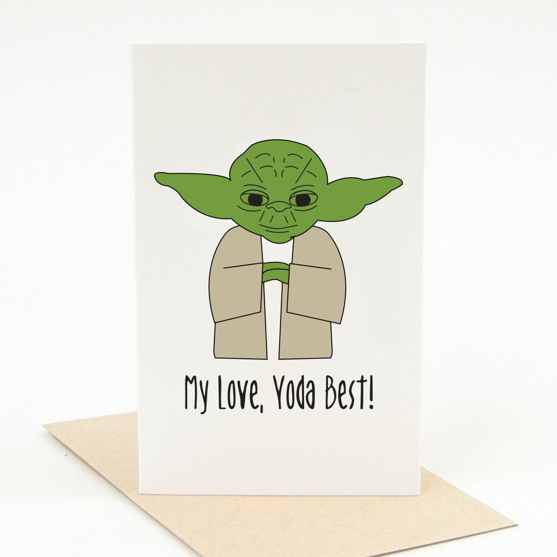 Yoda Valentines Day Cards Popular items for yoda card on etsy