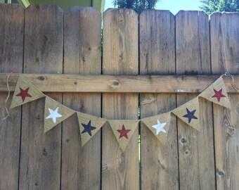 STARS Burlap Banner
