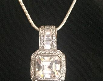 Sale! Delightful Sterling Crystal Necklace 925