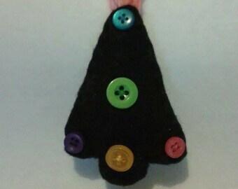Hand sewn felt and button tree decoration
