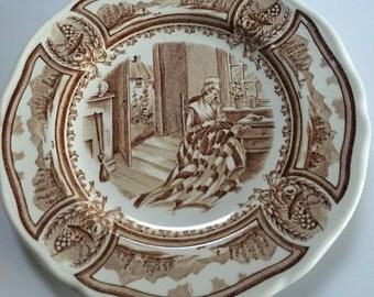 Americana Style House Ironstone plate