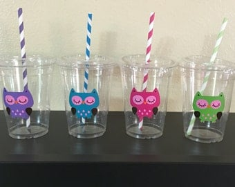 Owl party cups