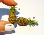 Miniature pineapple. Dollhouse, fruit, miniatures, ananas.