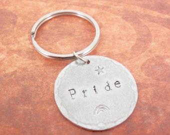 PRIDE LGBT  Gay, Lesbian Key Ring/Fob