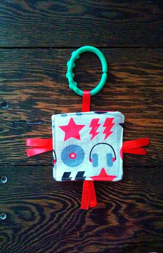 Baby Crinkle Tag Toy, Sensory Toy