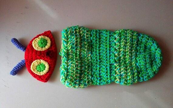 Caterpillar Cocoon and Hat / Newborn Photo Prop