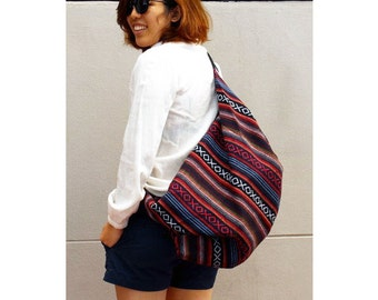 Shoulder Bag Cross body Bag Sling Bag Hippie Hobo Bag Handmade bag Purse Cross Body Thai bag  (H 31)