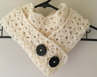 Lacey stitch scarf.