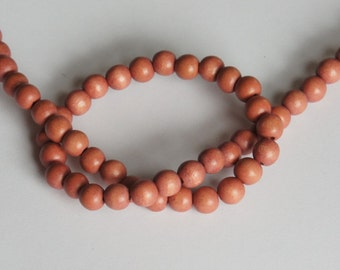 Mauve Beads, Round Wood Beads, 8mm, Lightweight Beads, Fast Shipping from USA