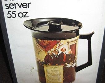 Vintage Thermo Serv Freedom series 55 oz insulated beverage server