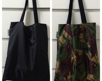 Reversible folding bag for life