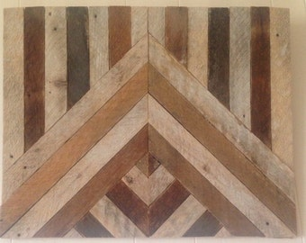 Reclaimed Square Lath Wall Hanging