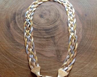 Herringbone Bracelet 9ct Gold Bracelet 375 Gold Bracelet Rose Gold Bracelet White Gold Bracelet Yellow Gold Bracelet Plaited Gold