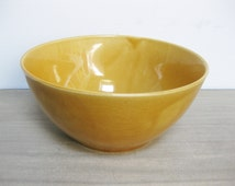Vintage Ceramic Ochreous Bowl GDR