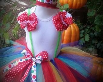 clown tutus, circus themed tutus, circus clown tutu,  circus birthday tutu,  circus costumes, ring master tutu, circus clown costume.