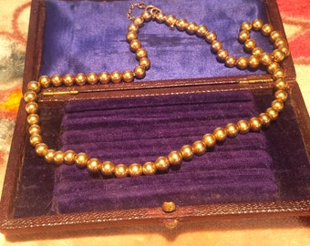 Victorian 14k Gold Bead Necklace
