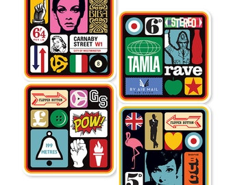Pop Art Collection Coasters (set of 4)